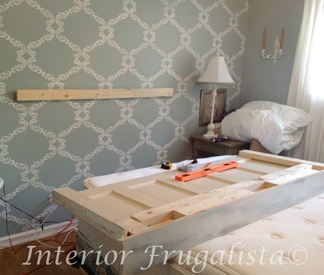 Installing French Cleat For Old Door Headboard