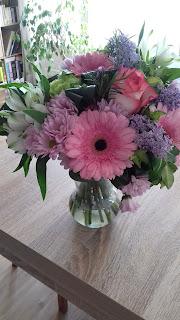 Bouquet de fleurs pot de départ