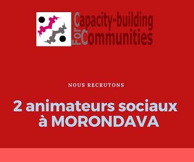 Recrutement: Deux Animateurs Sociaux (Morondava)