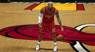 NBA 2K14 Miami Heat Red Alternate Jersey Mod