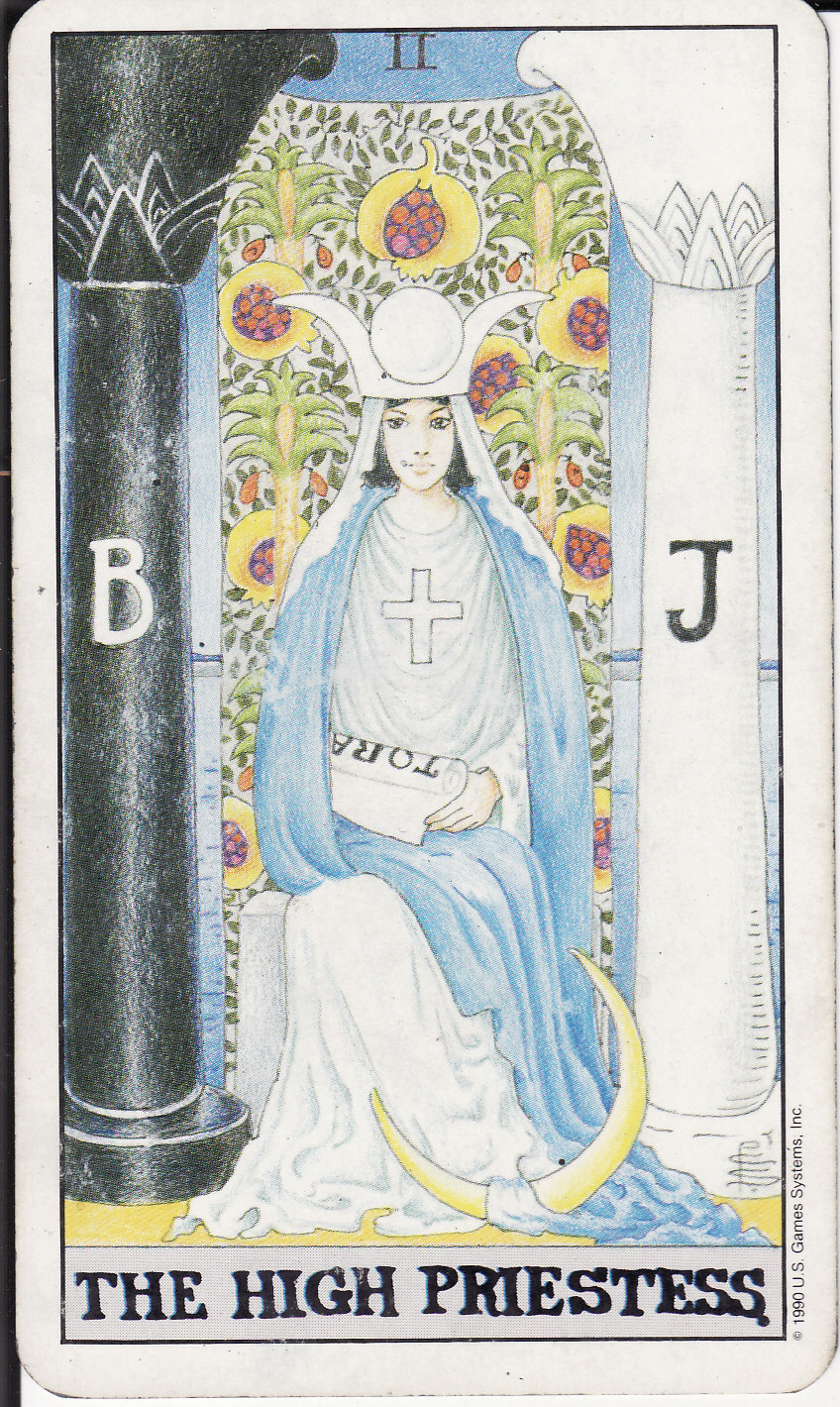 High Priestess Full Colorful Deck Major Stock Illustration: The Royal Road: 2 THE HIGH PRIESTESS II