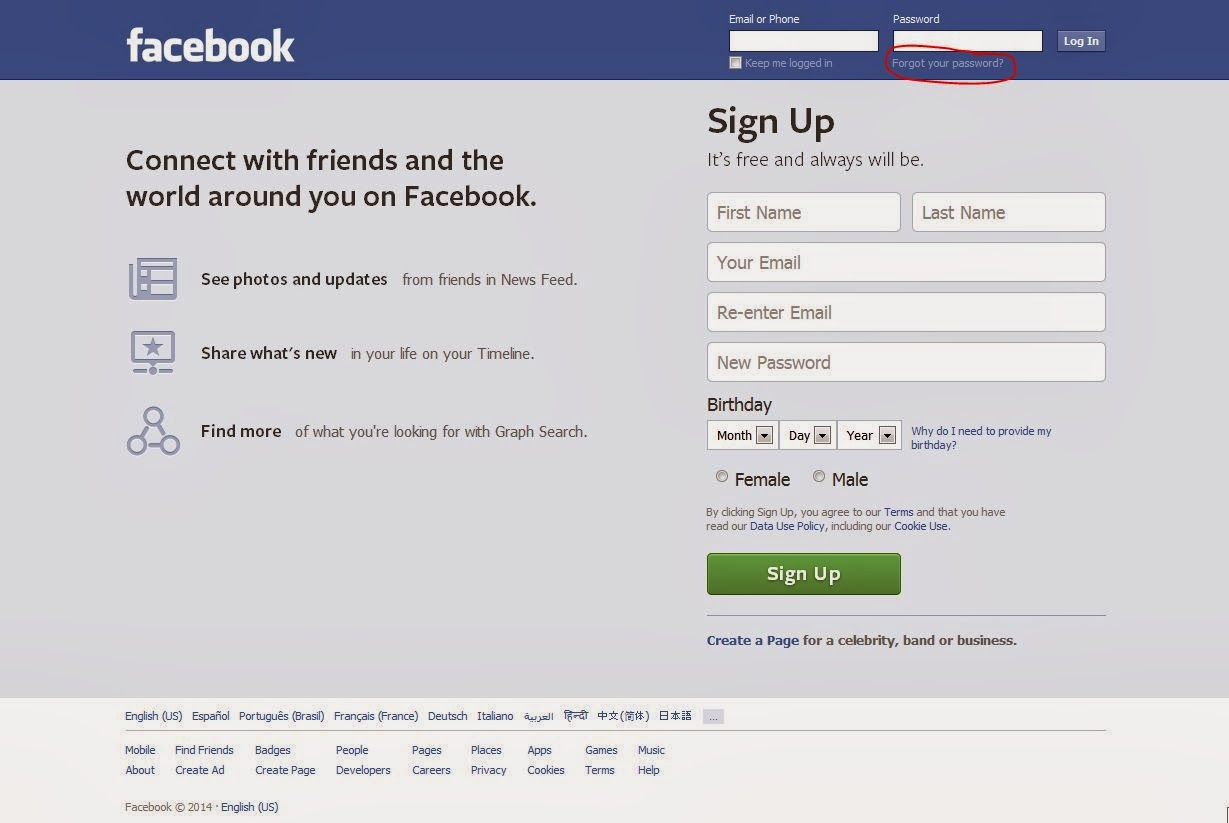 Pc Help: How can I access my Facebook account when I forgot
