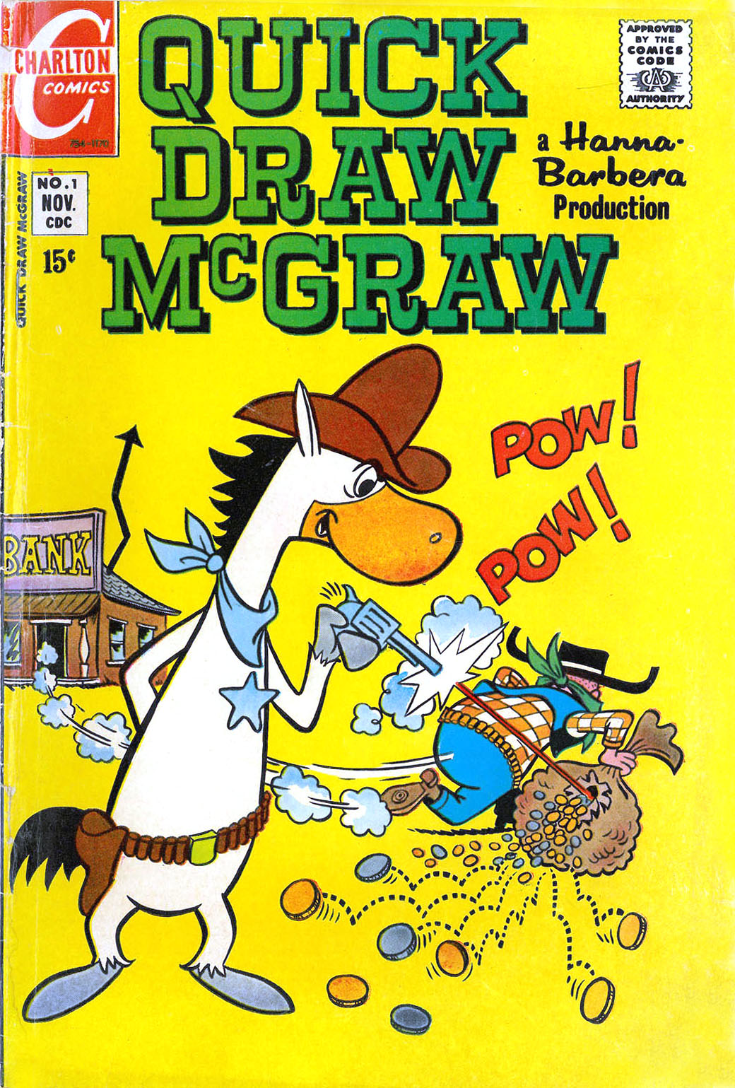 THE CHARLTON COMICS READING LIBRARY: QUICK DRAW McGRAW #1 ...