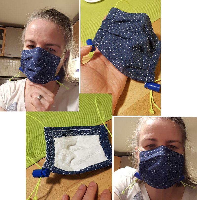 Maske aus Bandana genäht