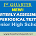 NEW! 1st Periodical Test  for Senior High School (SHS), SY 2019-2020