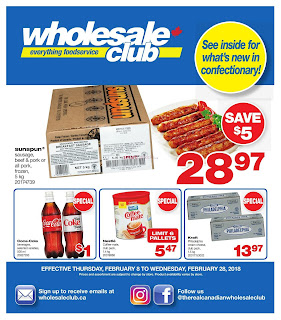 Wholesale Club Menu Flyer Valid February 8 - 28, 2018