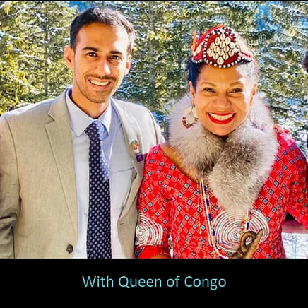 Pratik Gauri with Queen of Congo