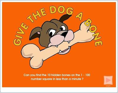 """""""Dale un hueso al perro"""" (Juego de números del 1 al 100)"""