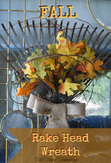 Isn't this Fall Rake Head Wreath just adorable!