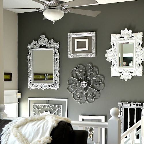 Glitz and Glam Gallery Wall With Upcycled Thrift Store Finds