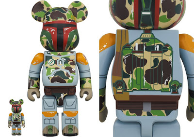Star Wars BAPE Boba Fett Be@rbrick Vinyl Figures by Medicom Toy