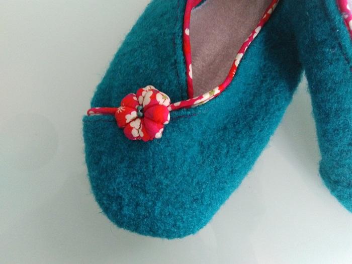 Bulle&Funambule: Des chaussons et des fleurs japonaises