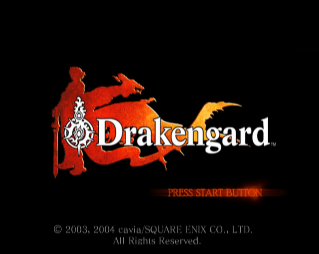 Drakengard title screen