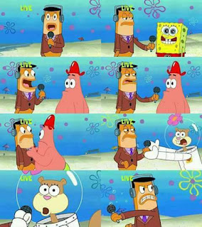 Polosan meme spongebob dan patrick 156 - wawancara televisi bersama sandy cheeks