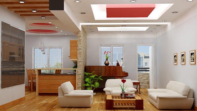 Hình ảnh trần nhà đẹp bằng thạch cao