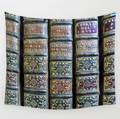Old Books Tapestry