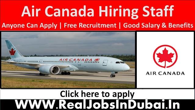 Air Canada Hiring Staff In Canada 2021
