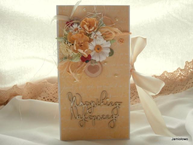 margarytki i inne papierowe kwiaty na czekoladowniku