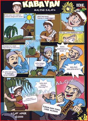 contoh komik lucu cerita islami