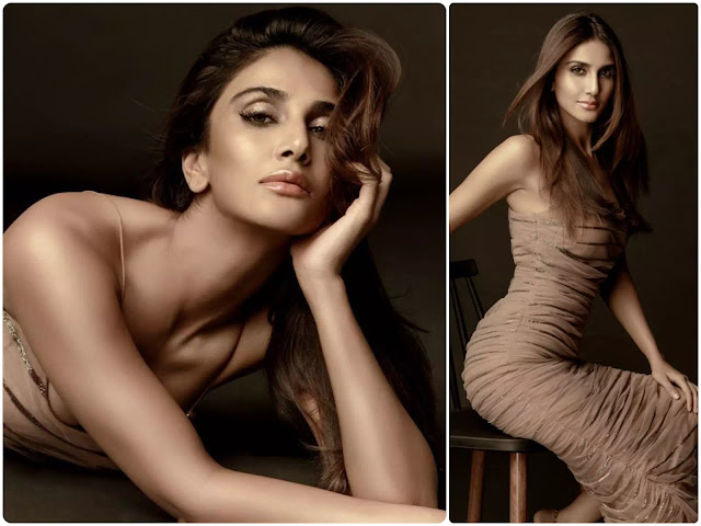 Vaani Kapoor Medium Layered Hairstyle