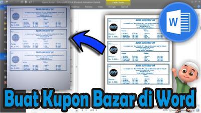 cara membuat kupon bazar di microsoft word