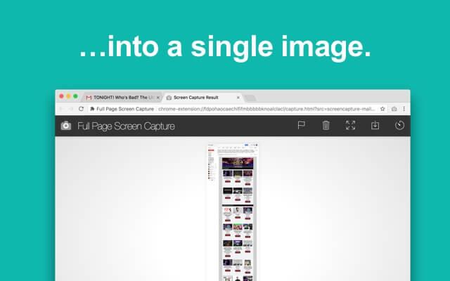 اضافة جوجل كروم لتصوير النافذه كاملة