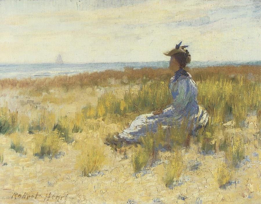 Ca s'est passé en juillet ! Robert-Henri-Girl-Seated-by-the-Sea