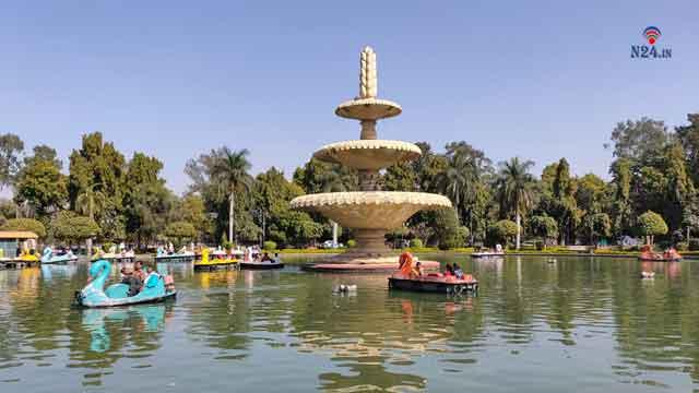sukhadia circle park and fountain udaipur