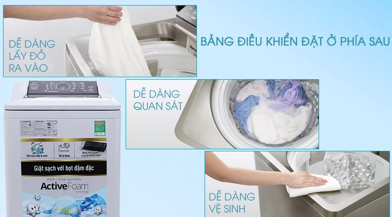 Bảng điều khiển tiếng Việt thân thiện - Máy giặt Panasonic 10 kg NA-F100A4GRV