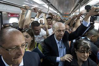 trensalão tucano de Geraldo Alckmin e Jose Serra PSDb/SP em SP