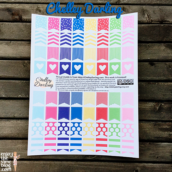 free printables from Chelley Darling for Erin Condren life planner