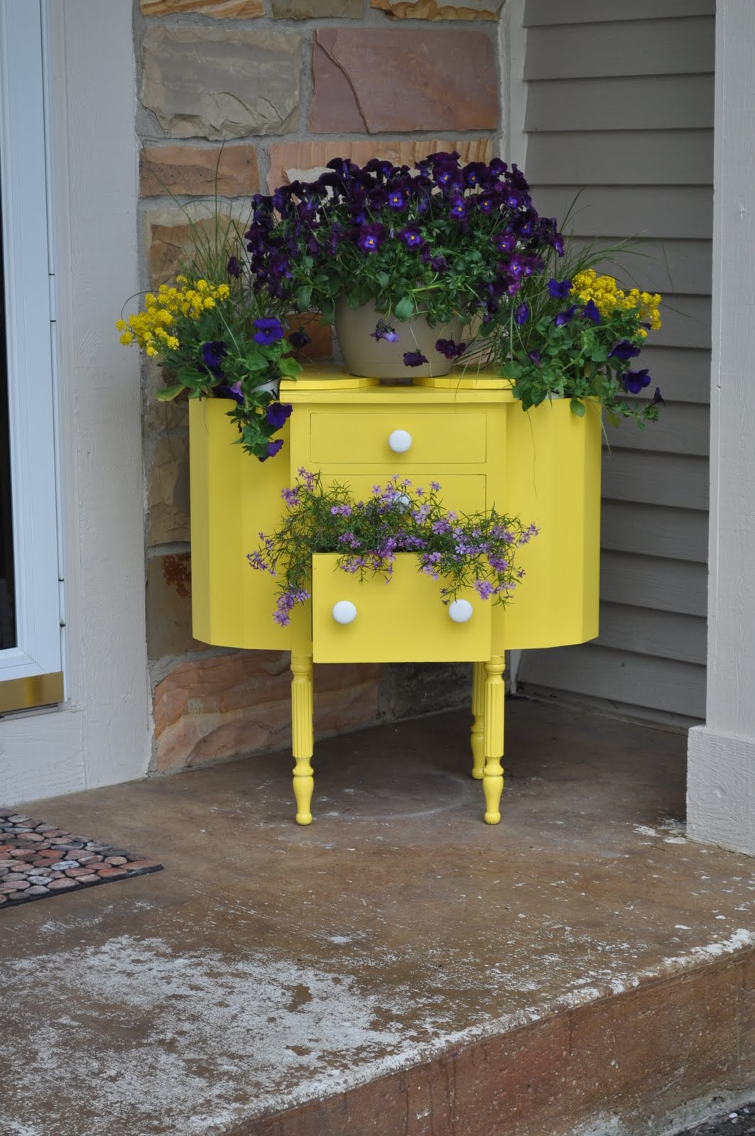 antique sewing box planter