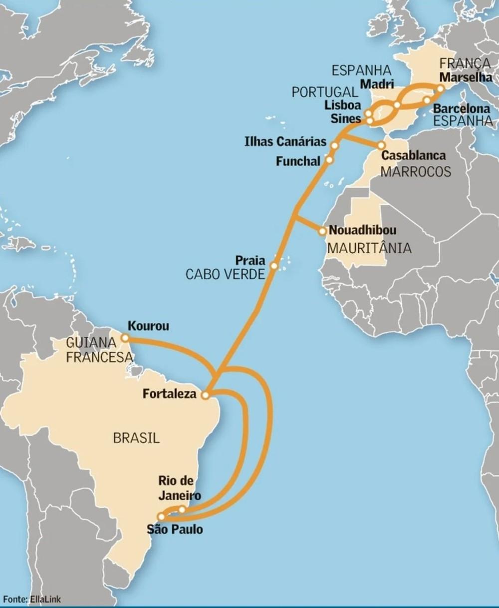 Cabo submarino de fibra óptica que liga Brasil à Europa começa a operar em junho