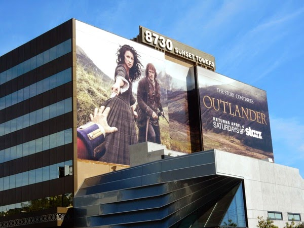 Giant Outlander midseason 1 billboard