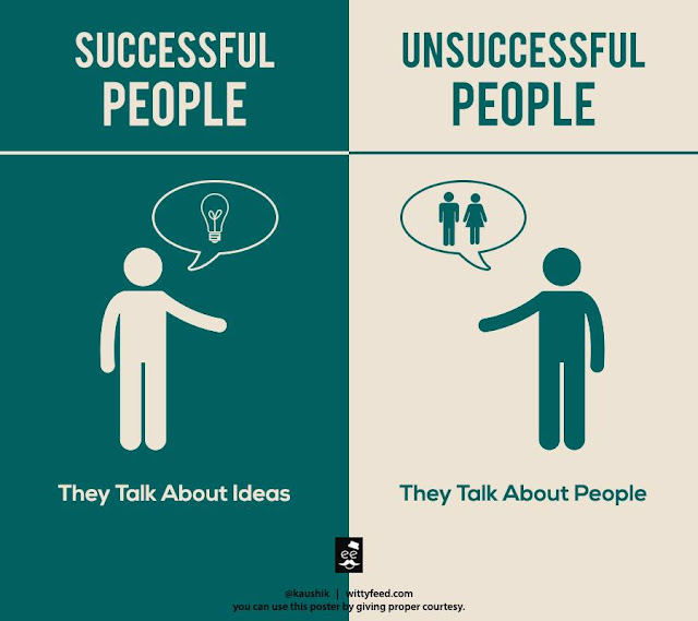 6 Successful people talk about idea & Unsuccessful people talk about people