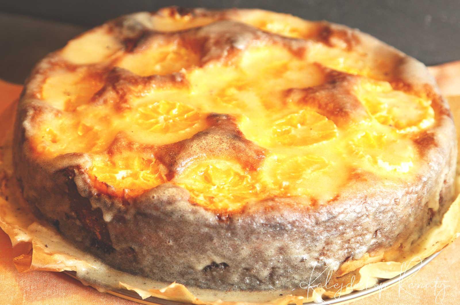 Ciasto z mielonych mandarynek