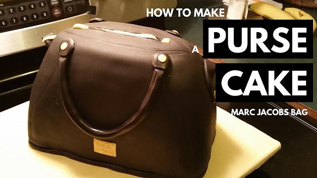 Marc Jacobs bag inspired birthday purse cake tutorial