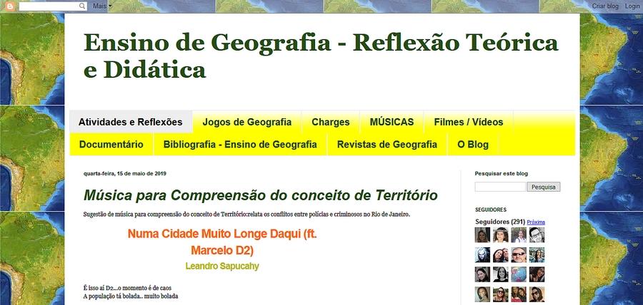Blog: Ensino de Geografia