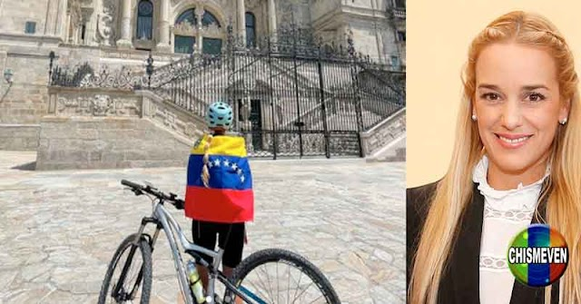 URGENTE | Lilian Tintori hizo el camino de Santiago de Compostela en Bicicleta