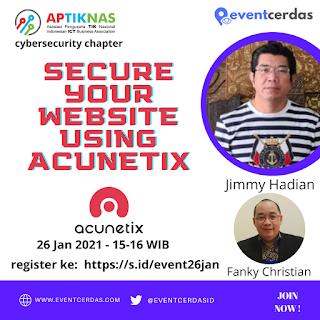 Webinar APTIKNAS CYBERSECURITY CHAPTER 26 Jan 2021