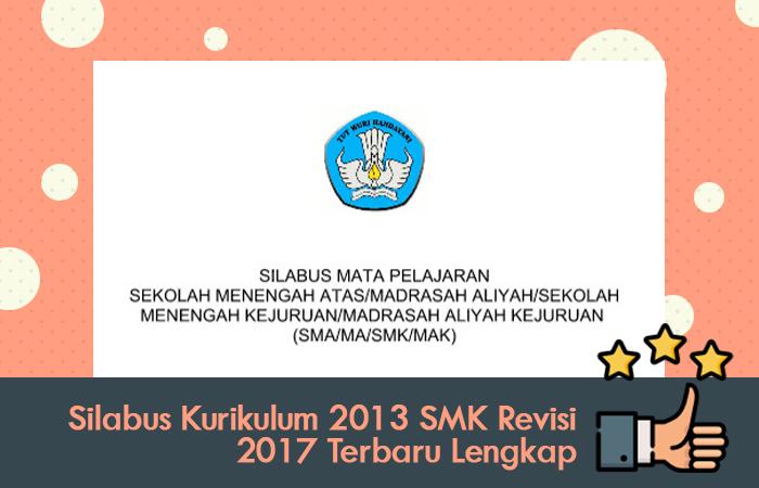 Silabus Kurikulum 2013 SMK Revisi 2017 Terbaru Lengkap