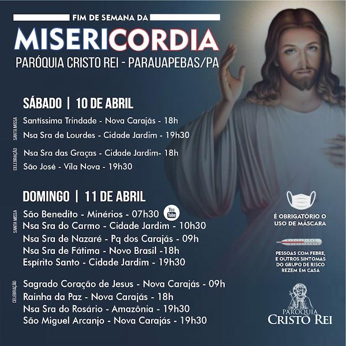 Programação do Domingo da Misericórdia na Paróquia Cristo Rei