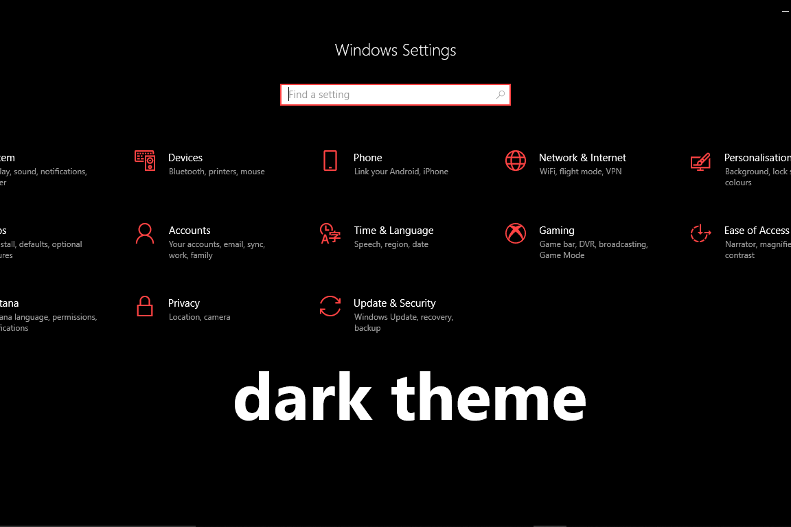 how to enable dark theme