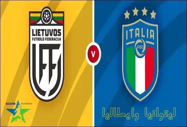 ايطاليا ضد ليتوانيا,تصفيات كاس العالم 2022 أوروبا
