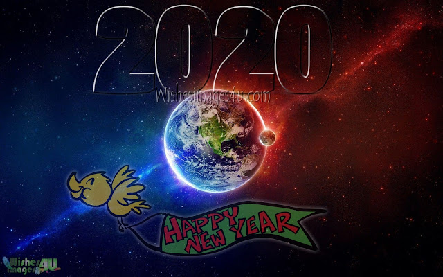 Happy New Year 2020 3D Desktop Background