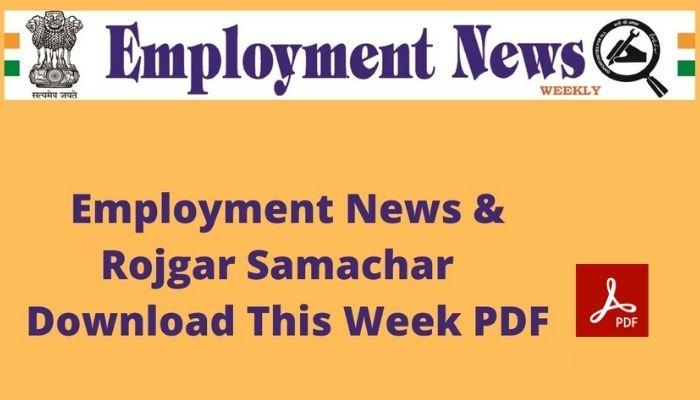 Employment Newspaper This Week Vacancies
