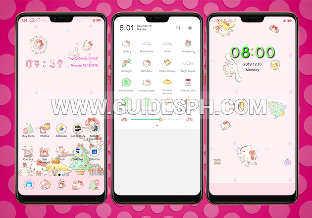 Oppo Theme: Sanrio Christmas Theme
