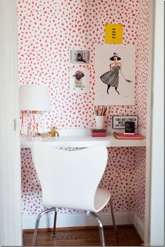 glam office in a closet-design addict mom