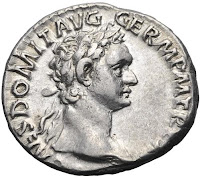 Roman Coin with image of Domitian