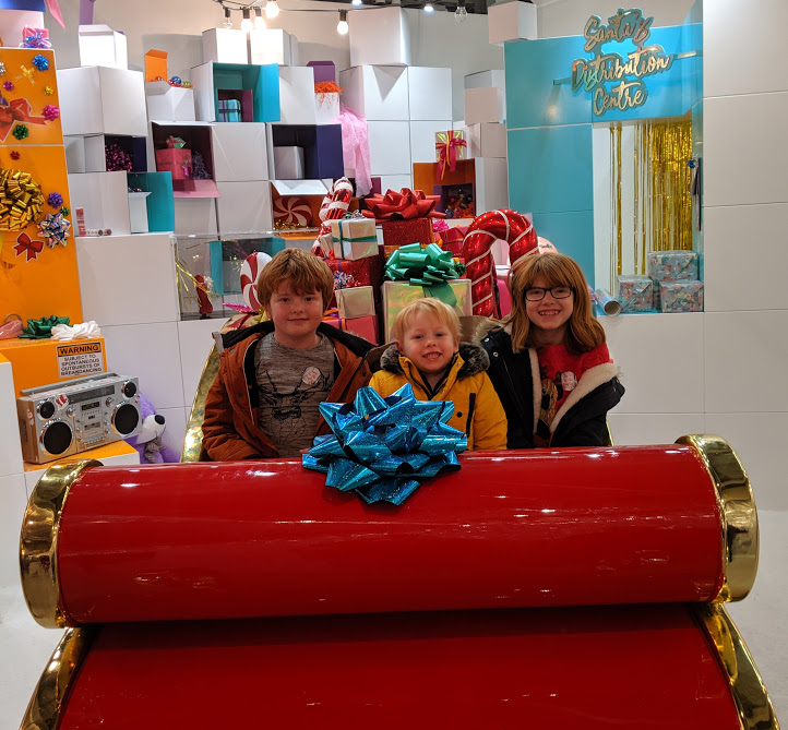 Santa on the Rooftop at Fenwick Newcastle Review  - santa sleigh